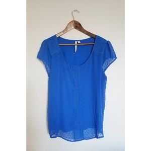 LC Blue Blouse with Cute Detailing size XXL